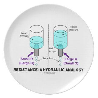 Resistance: A Hydraulic Analogy Dinner Plate