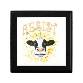 Resistance Dairy Cow Jewelry Box