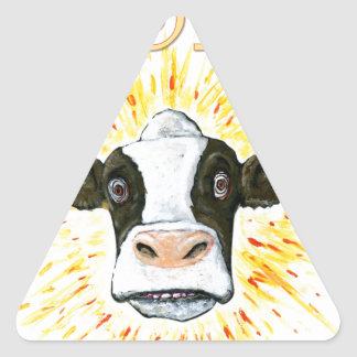 Resistance Dairy Cow Triangle Sticker