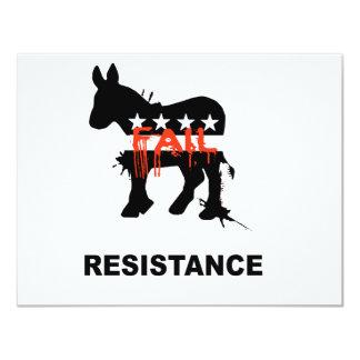 "Resistance 4.25"" X 5.5"" Invitation Card"