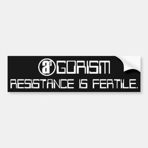 Resistance is Fertile Car Bumper Sticker