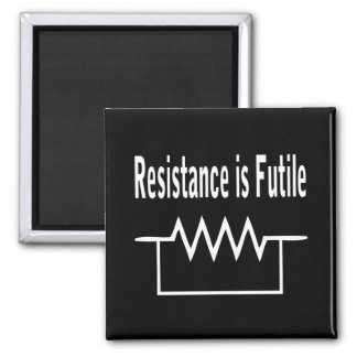 Resistance is Futile 2 Inch Square Magnet
