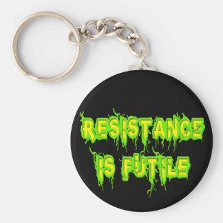 Resistance Is Futile Basic Round Button Keychain