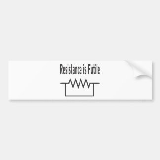 Resistance is Futile Car Bumper Sticker