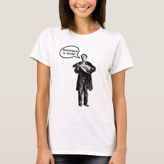 Resistance Is Futile (Mandolin) T-Shirt