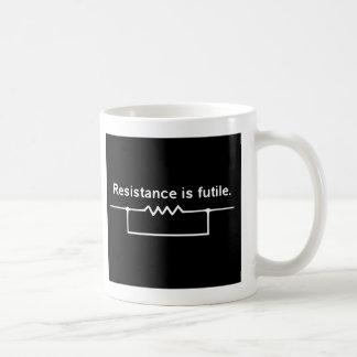 Resistance is futile. classic white coffee mug