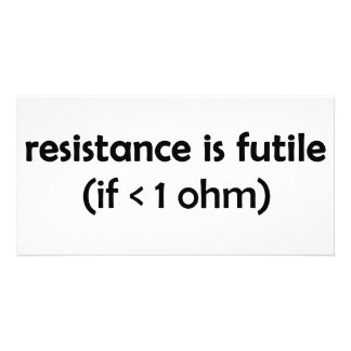 resistance is futile photo card