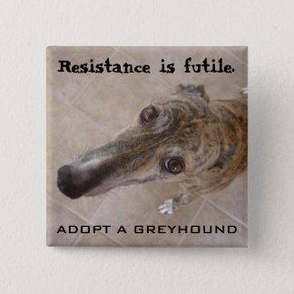 Resistance is futile. pinback button