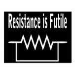 Resistance is Futile Post Cards