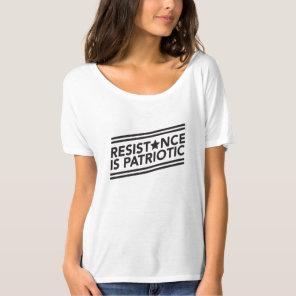 Resistance is Patriotic Slouchy Tee