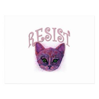 Resistance Kitten Postcard