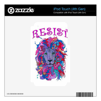 Resistance lion iPod touch 4G decal