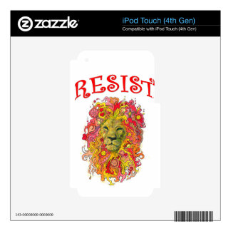 Resistance Lion iPod Touch 4G Skins
