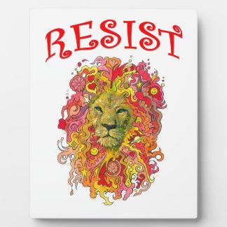 Resistance Lion Plaque