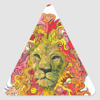 Resistance Lion Triangle Sticker