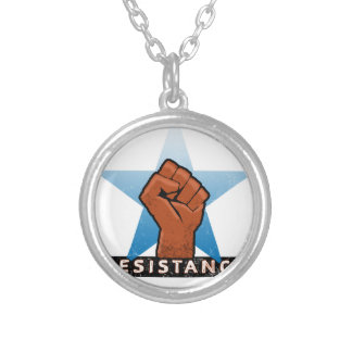 resistance silver plated necklace