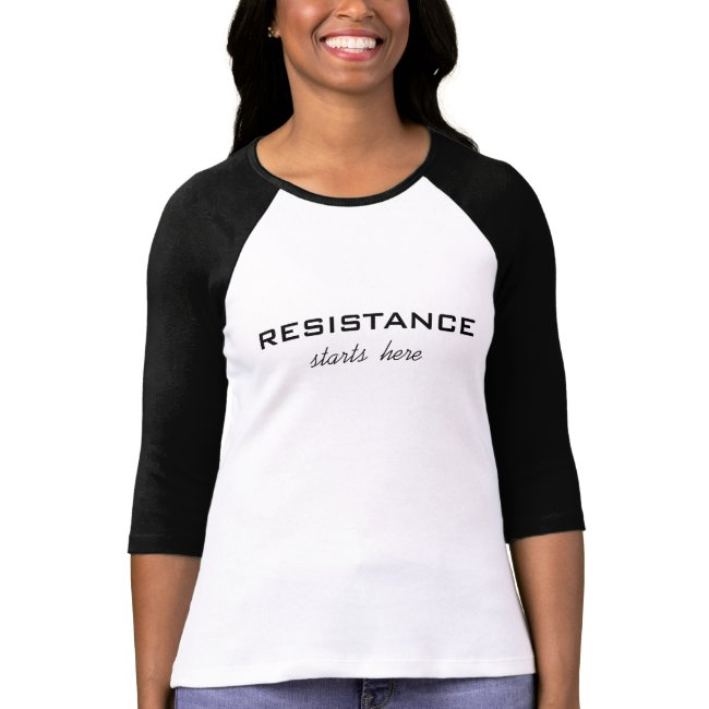 Resistance Starts Here, black text on white