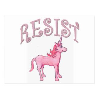 Resistance Unicorn Postcard