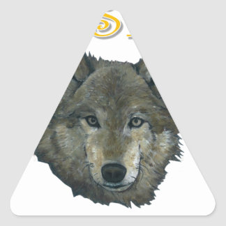 Resistance Wolf Triangle Sticker