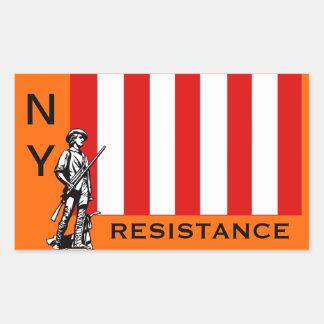 RESISTENCIA DE NY PEGATINA RECTANGULAR