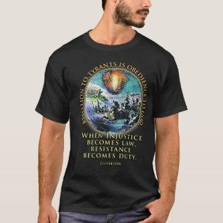 Resistencia y rebelión de la camiseta de la cita