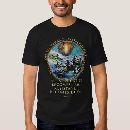 Resistencia y rebelión de la camiseta de la cita playera