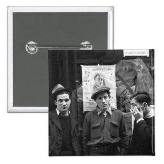 Resistencias de la calle para el FDR: 1936 Pin Cuadrado