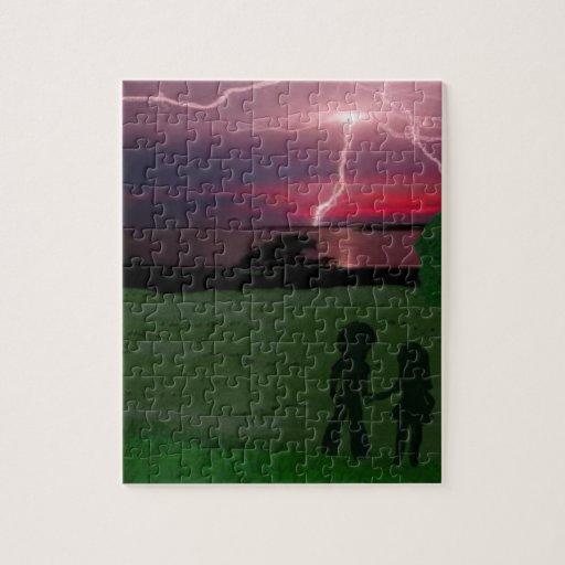 resistiendo a la tormenta junto puzzle