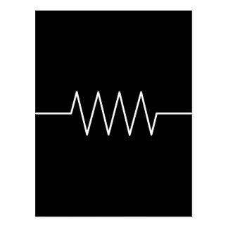 resistor_black postcard