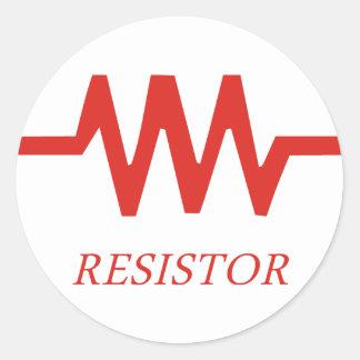 Resistor Classic Round Sticker