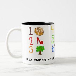 Resistor Color Code Two-Tone Coffee Mug