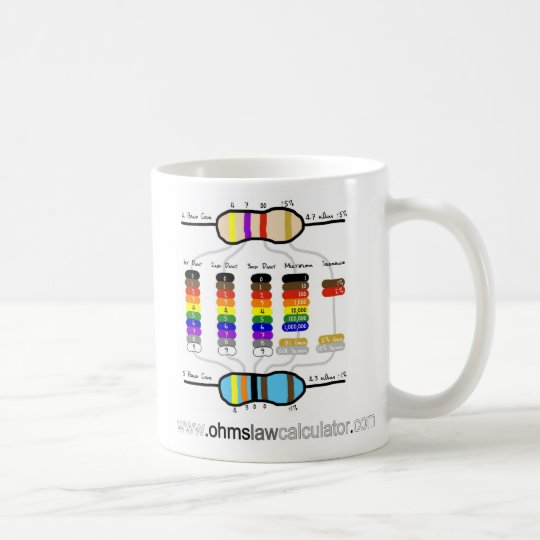 Resistor Colour Chart Mug - Large
