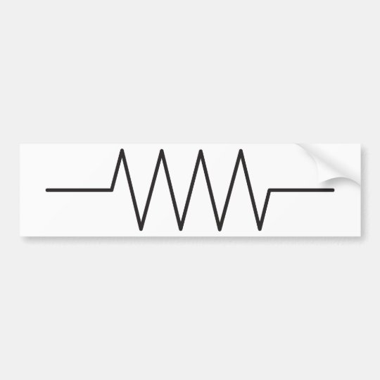 Resistor Symbol Bumper Sticker Zazzle