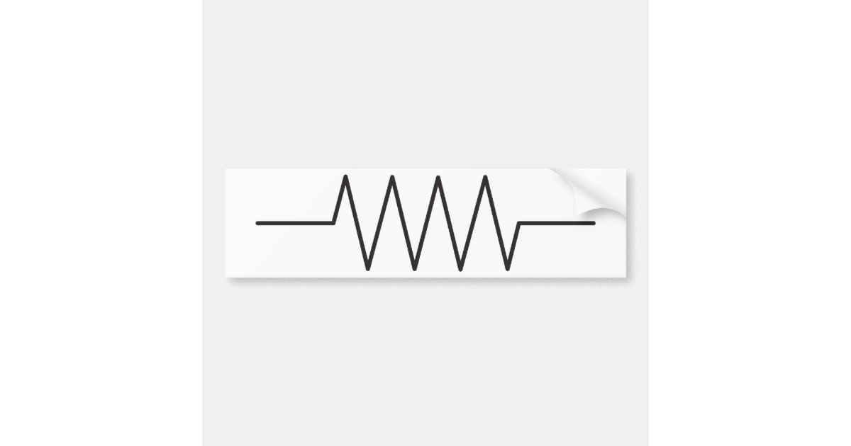 Resistor Symbol Bumper Sticker   Zazzle.com