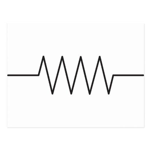 resistor symbol postcard zazzle