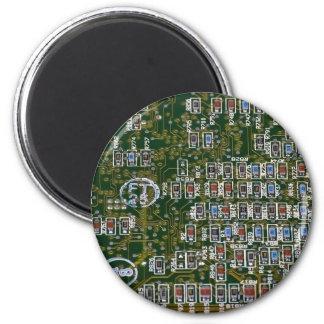 Resistores en una placa de circuito iman para frigorífico