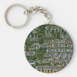 Resistores en una placa de circuito llaveros personalizados