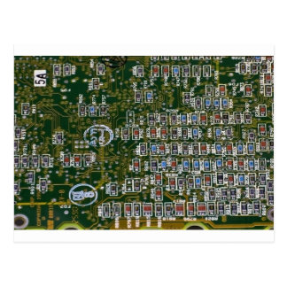 Resistores en una placa de circuito tarjeta postal