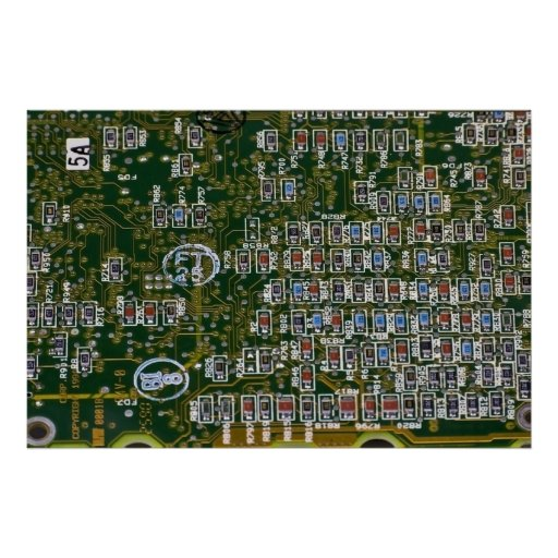 Resistors on a Circuit Board Poster