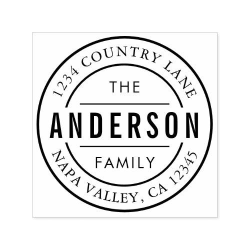 RESIZED Custom Family Name Return Address Self_inking Stamp