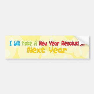 Resolución del Año Nuevo Etiqueta De Parachoque