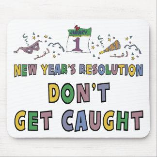 Resolución del Año Nuevo Tapete De Raton