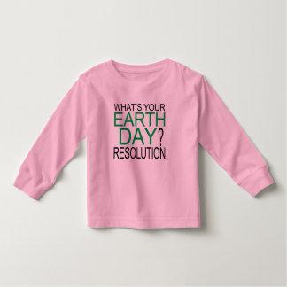 Resolución del Día de la Tierra Playera De Bebé