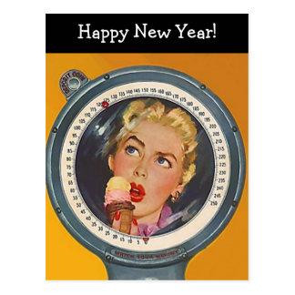 Resolución del peso de la Feliz Año Nuevo de la po Tarjeta Postal