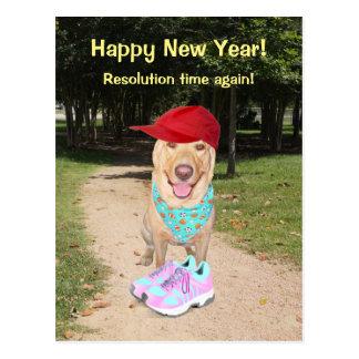 Resolución divertida adaptable del Año Nuevo del Postal