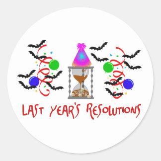 Resoluciones más allá pegatina redonda
