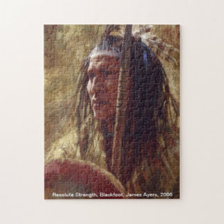 Resolute Strength, Native American warrior puzzle