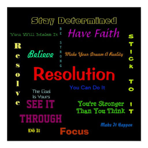 Resolution Poster You Can Do It Encouragement