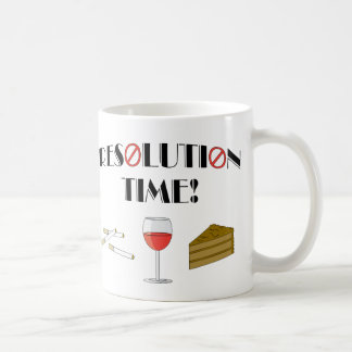 Resolution Time Classic White Coffee Mug