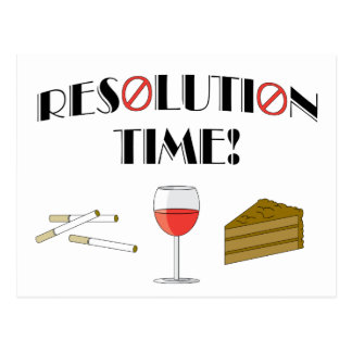 Resolution Time Post Card